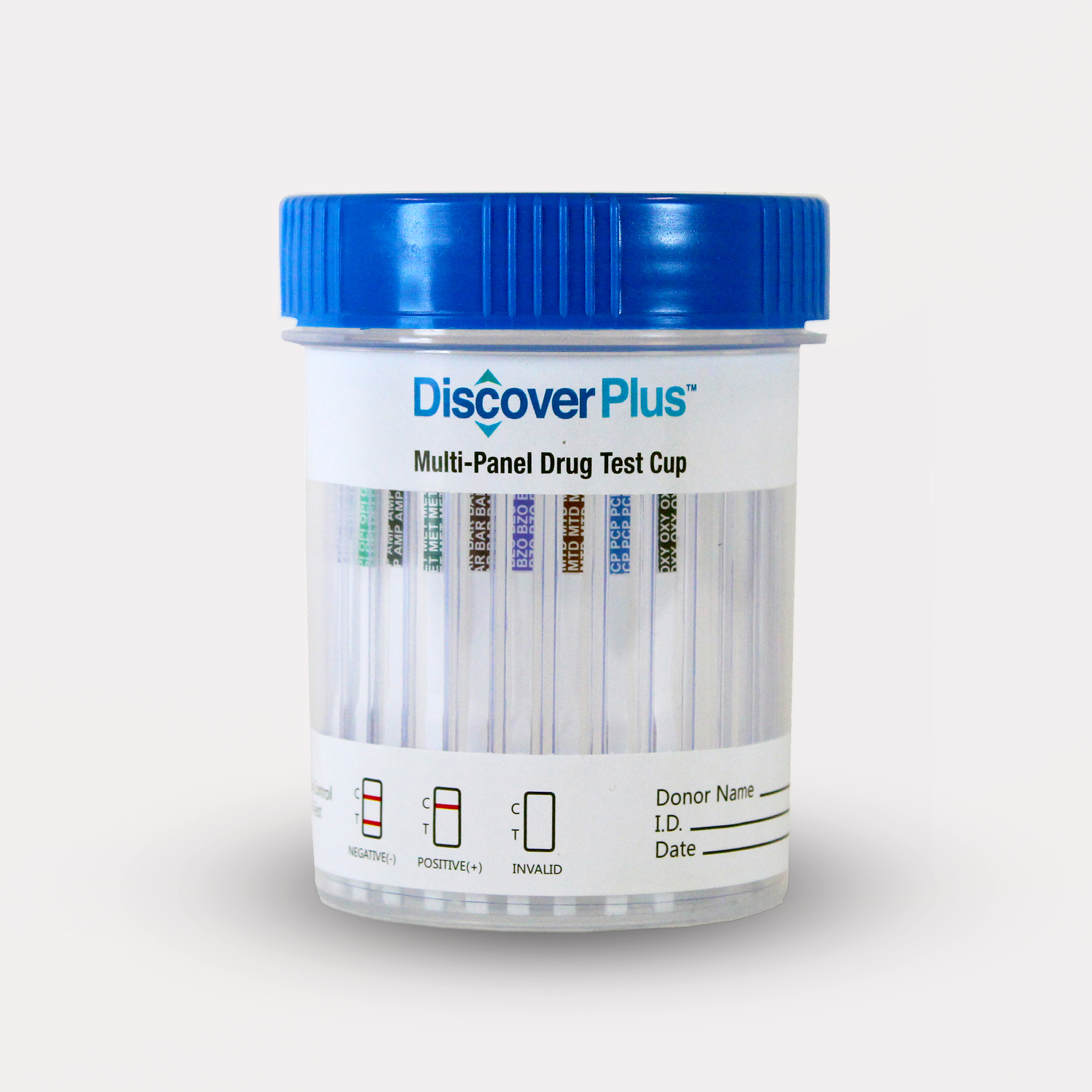 Discover Plus - 10 Panel Cup - THC/COC/OPI/mAMP/BAR/BZO/MTD/OXY/BUP/TCA