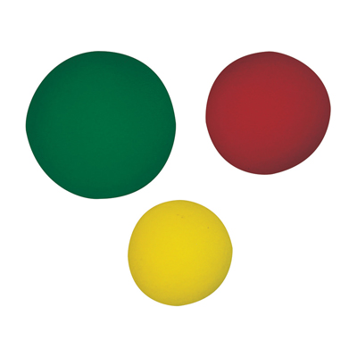 CanDo memory foam hand ball set (1 ea: yellow, red, green)