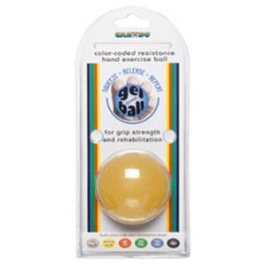 CanDo gel hand exercise ball, small, x-soft, yellow