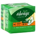 Always Maxi Pad With Wings Overnite 6X14/Ca