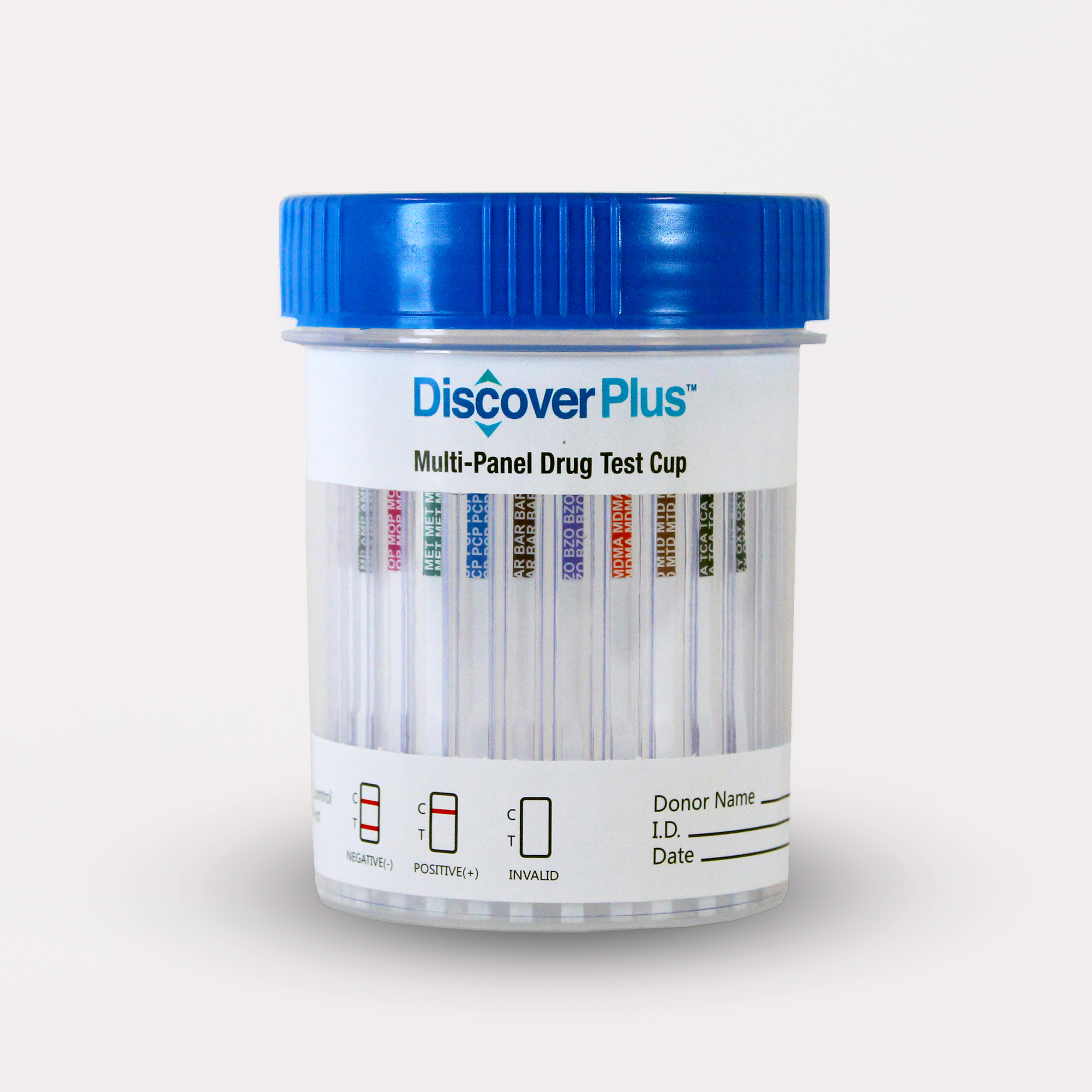 Discover Plus - 12 Panel Cup - THC/COC/MET/AMP/FENT/MOP/OXY/MTD/BAR/BZO/MDMA/BUP - PH,SG,CREAT