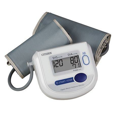 Automatic inflation blood pressure and plus monitor, wide range cuffs