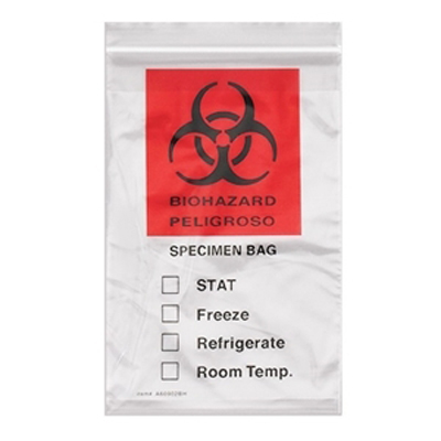 "12""x15"" Econo-Zip Specimen Transport Bags (CLEAR) (1000/cs )"