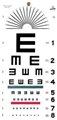 Tumbling E (Illiterate) Eye Chart 20' 22x11""