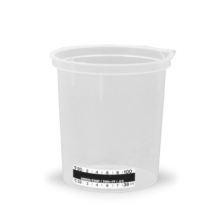 240 mL Beaker Style Collection Cup with Temperature Strip, 500/case
