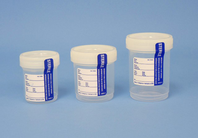 120mL/53mm Sterile Container w/label & temp strip, 300/case