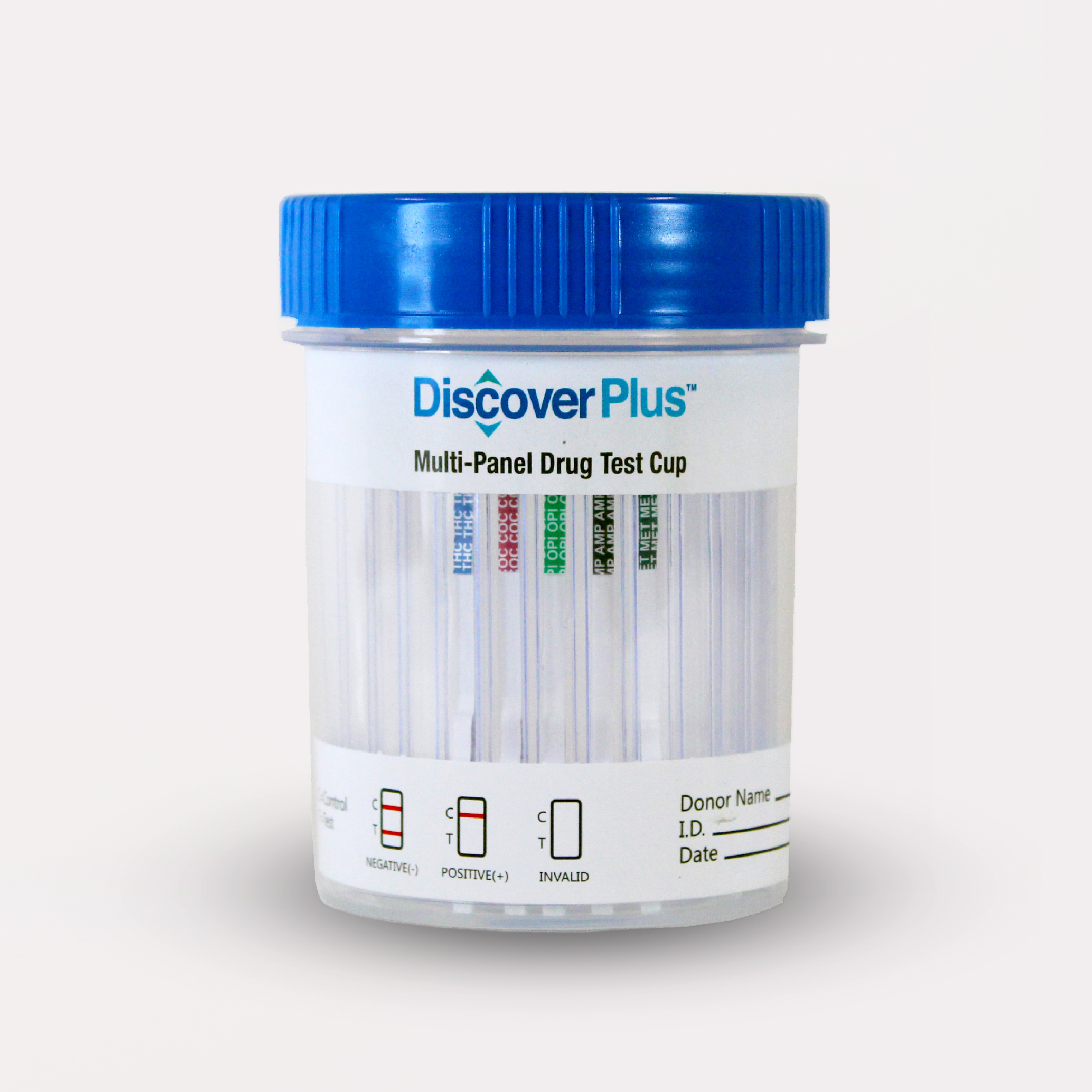Discover Plus - 7 Panel Cup w/ads - THC/COC/AMP/OPI/mAMP/BZO/OXY - PH/SG/OXI