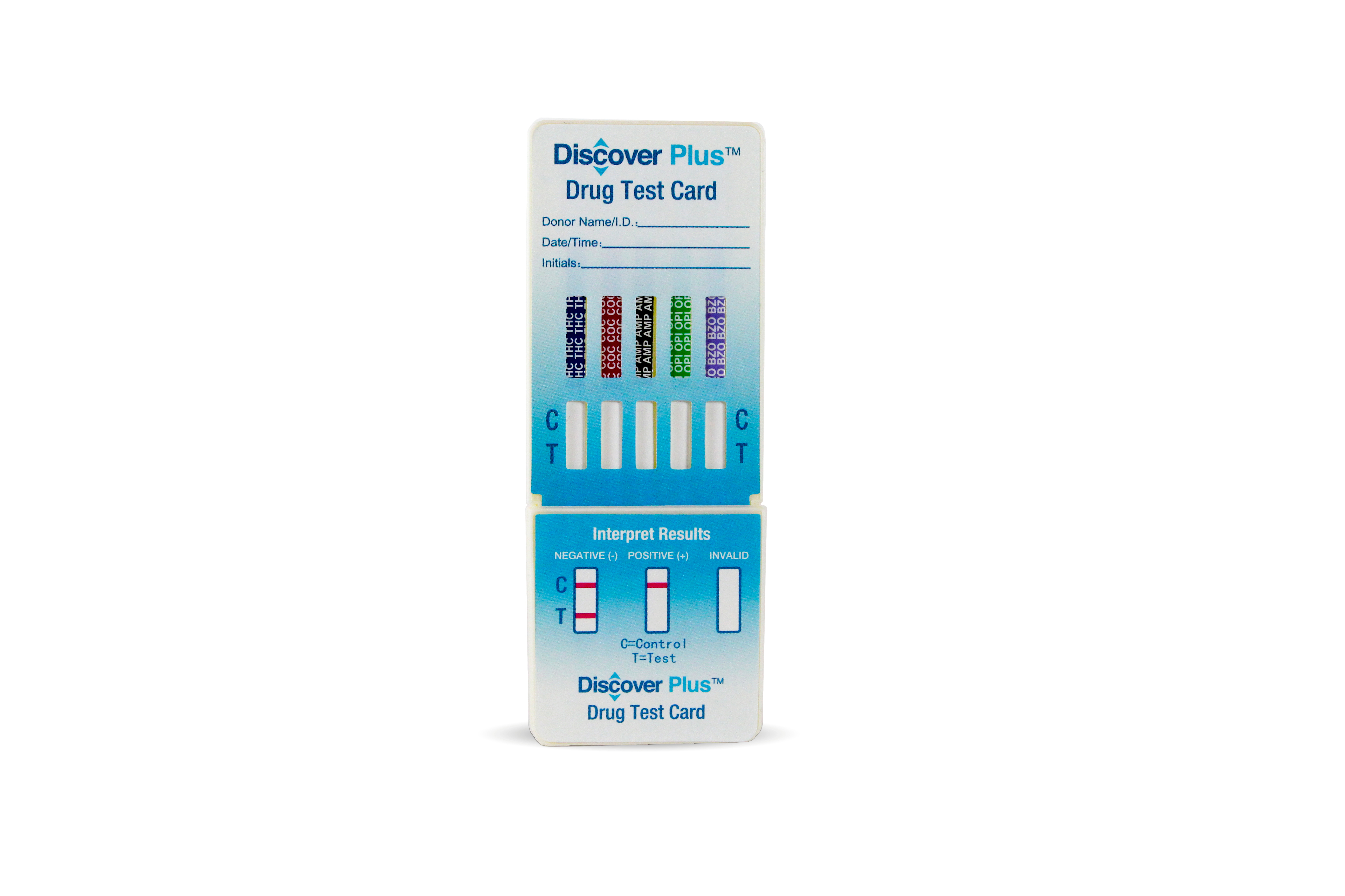Discover Plus - 4 Panel Dip Card - (THC/COC/OPI/mAMP)
