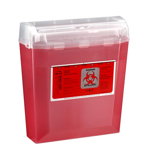 Wallsafe Sharps Container-5-Quart