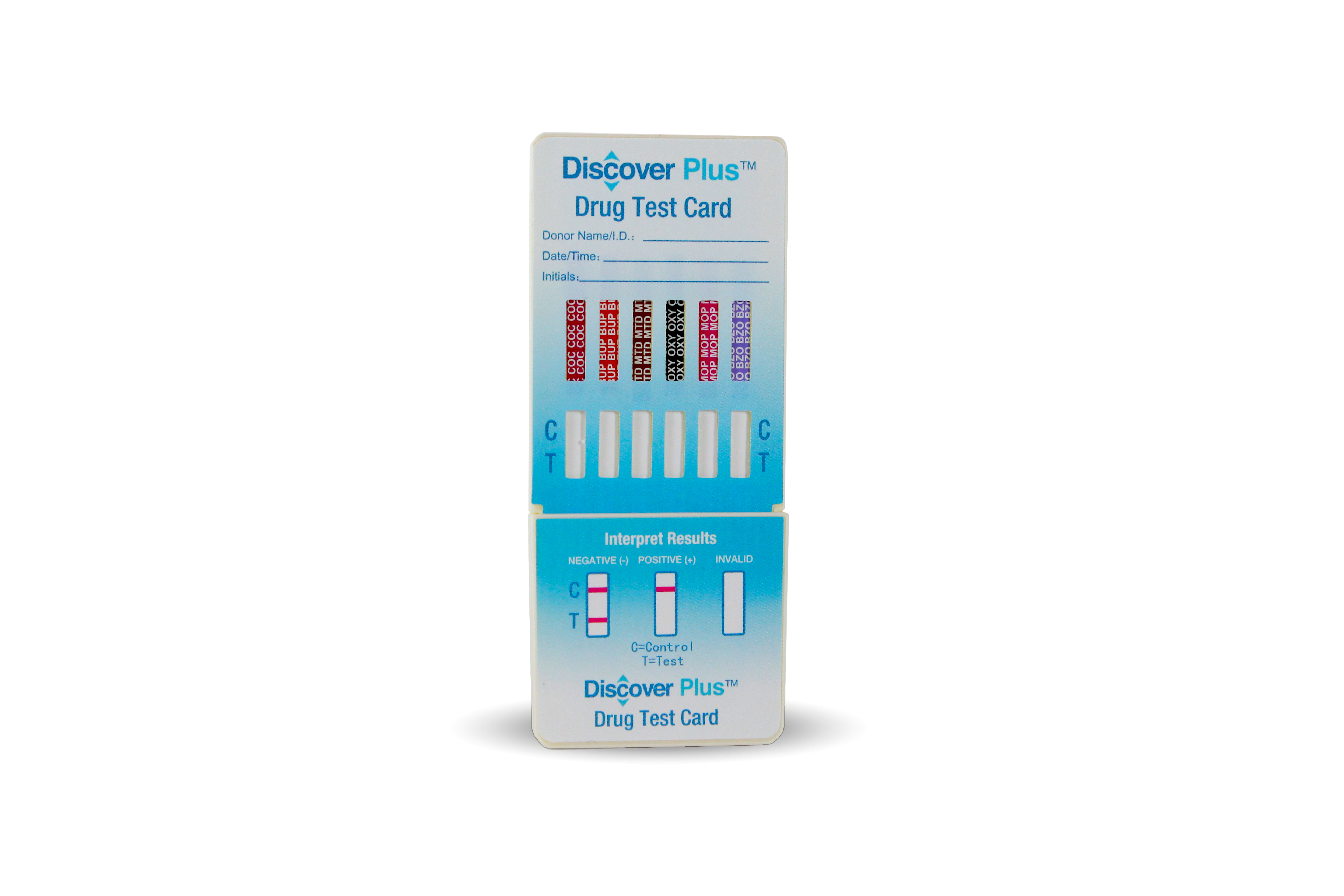 Discover Plus - 12 Panel Dip Card - (THC/COC/AMP/mAMP/BZO/BAR/MTD/MDMA/PCP/TCA/OXY/MOP)