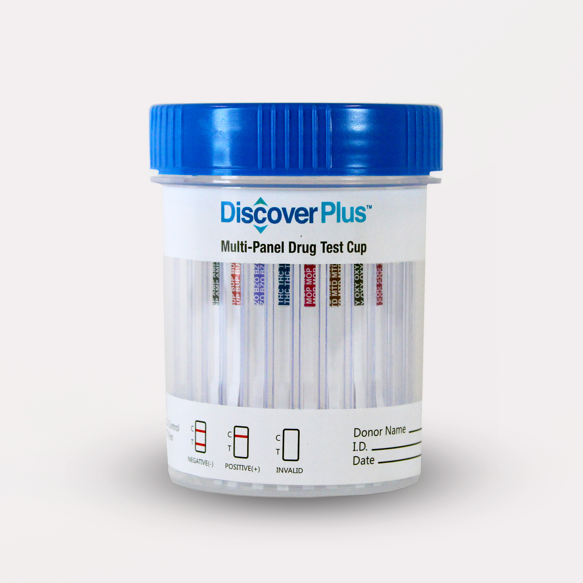 DISCOVER PLUS 8 Panel Cup (THC/COC/AMP/MOP/BZO/MTD/OXY/BUP)