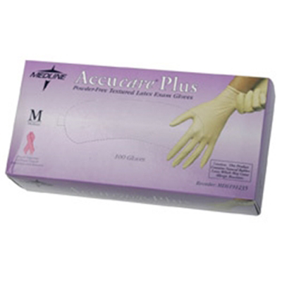 Accucare PF Latex Glove Large 100/Bx