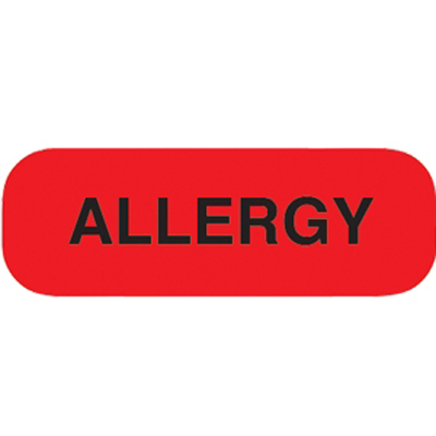 Label Allergy Red/White