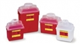 Guardian Sharps Nestable Container w/Clear Lid-14qt