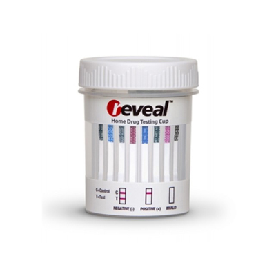 Reveal - 11 Panel Cup - THC/COC/AMP/OPI/MET/PCP/BAR/BZO/MTD/MDMA/ALC - PH/SG/OXI