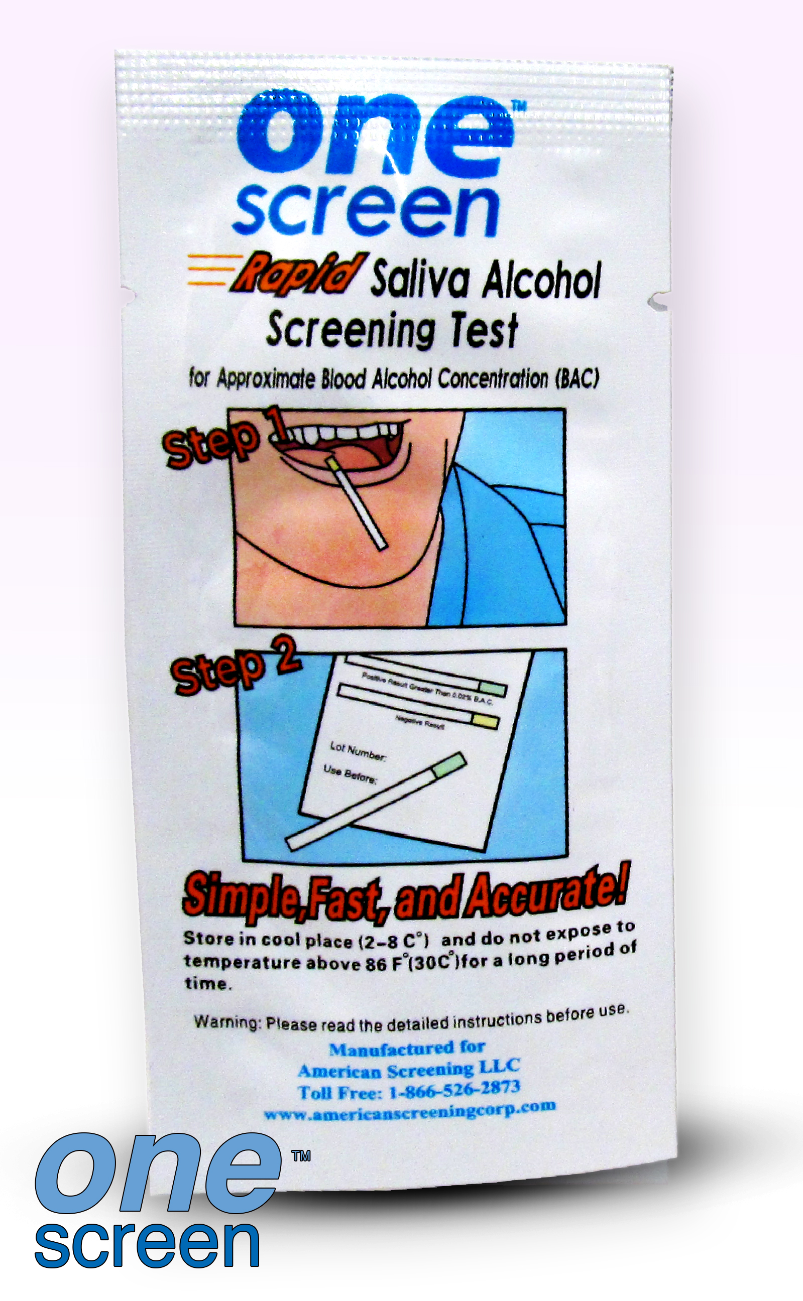 OneScreen Alcoho Saliva Strip