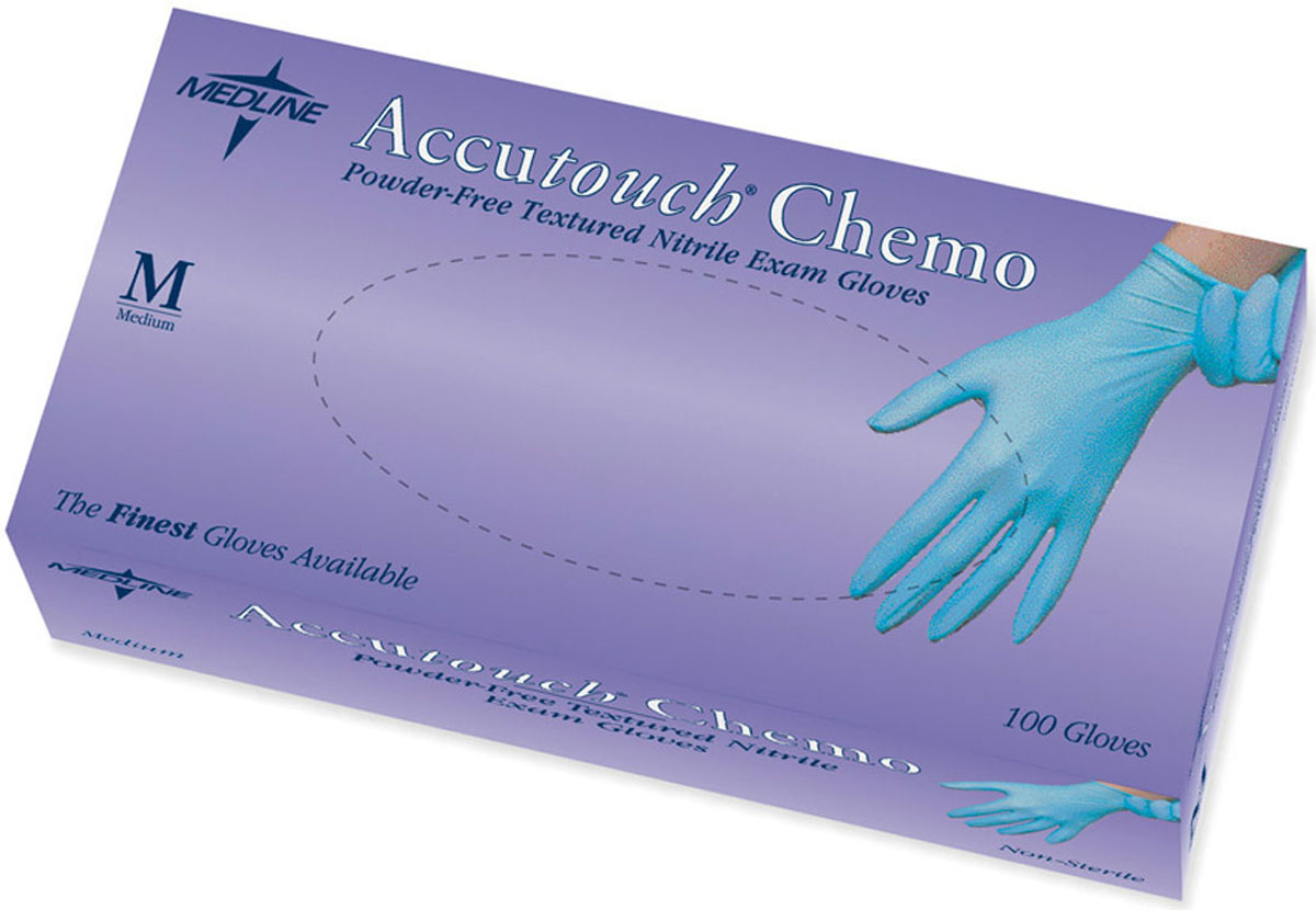 Accutouch Chemo Gloves - Medium - Powder-Free - Nitrile