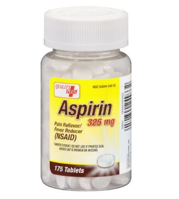 Aspirin Pain Reliever/Fever Reducer Reducer Tablets, 325 mg