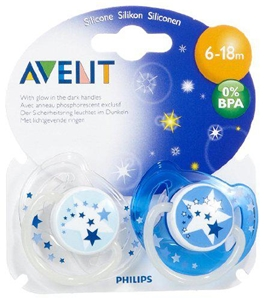 Avent - BPA Free Night Time Toddler Pacifiers (6-18 Mo's) (2 Pack)