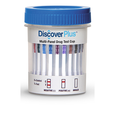 DISCOVER PLUS 12 PANEL CUP EA - (THC/COC/AMP/OPI/mAMP/PCP/BAR/BZO/MTD/MDMA/OXY/BUP)