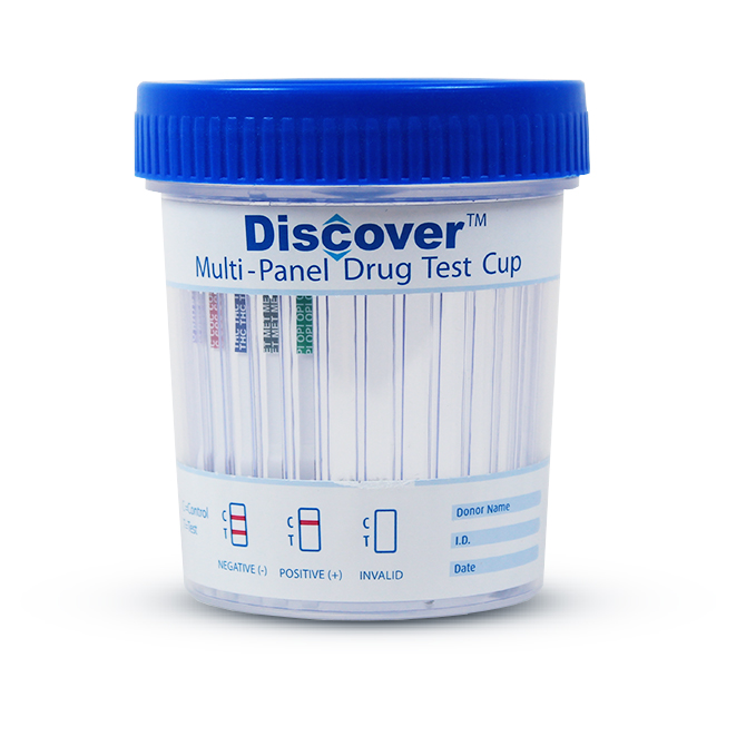 Discover - 6 Panel Cup w/ads - THC/COC/OPI/mAMP/BZO/OXY - PH/SG/OXI