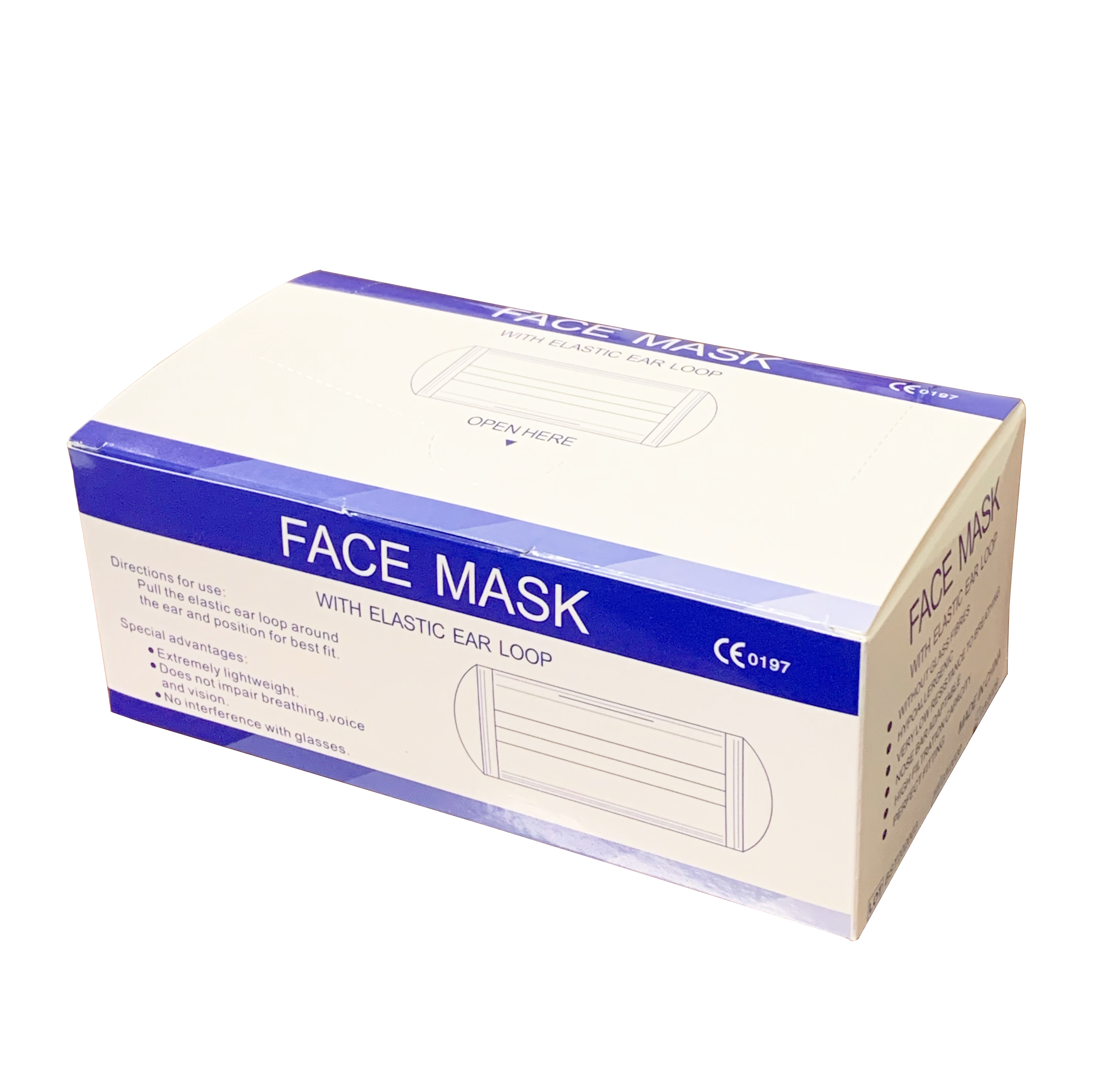 3 Ply Earloop Particulate Face Mask 50/Box