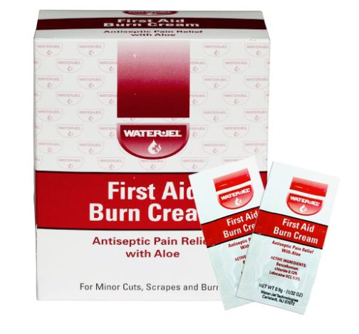 First Aid Burn Cream w/ Aloe - 0.9gm - 25/Bx