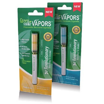 Green Smoke Disposable Electronic Cigarettes (Sing-Flavor - Absolute Tobacco