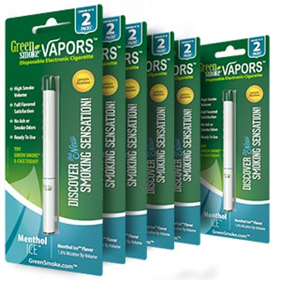 Green Smoke Disposable Electronic Cigarettes (Sing-Flavor - Menthol Ice