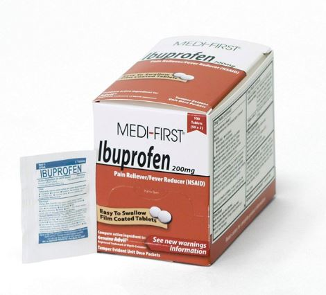 Ibuprofen, 50 packets of 2 - 200mg