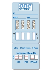 Onescreen - 4 Panel Dip Card - (COC/OPI/mAMP/OXY)