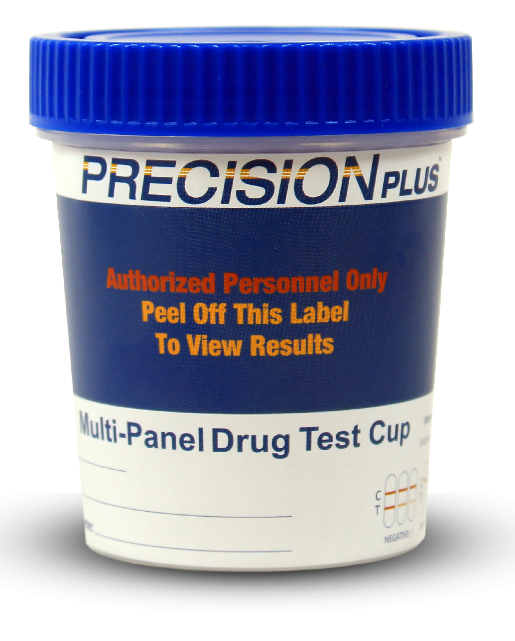 Precision Plus - 12 Panel Cup - THC/COC/AMP/OPI300/mAMP/PCP/BAR/BZO/MTD/MDMA/OXY/BUP - PH/SG/CREA