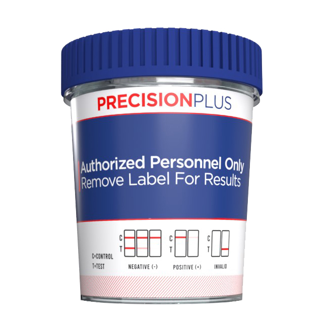 Precision Plus - 12 Panel Cup - THC/COC/AMP/OPI/mAMP/PCP/BAR/BZO/MTD/MDMA/OXY/BUP