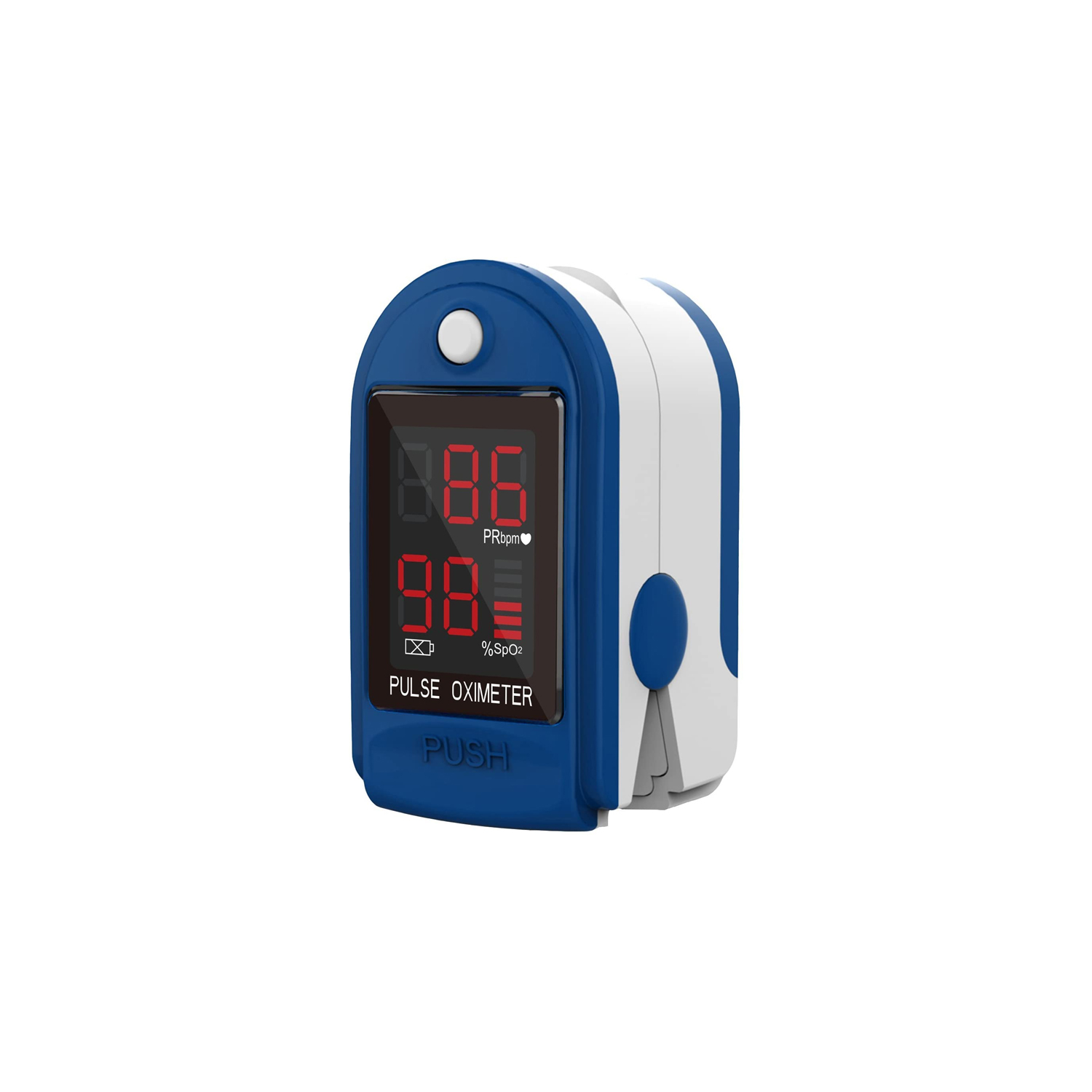 Pulse Rate Oximeter with Bar Graph LED Display