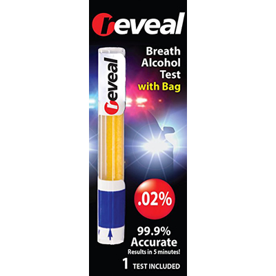 Reveal Alcohol Test Bag - Breath 0.02 (Dot Compliant) (New Design)