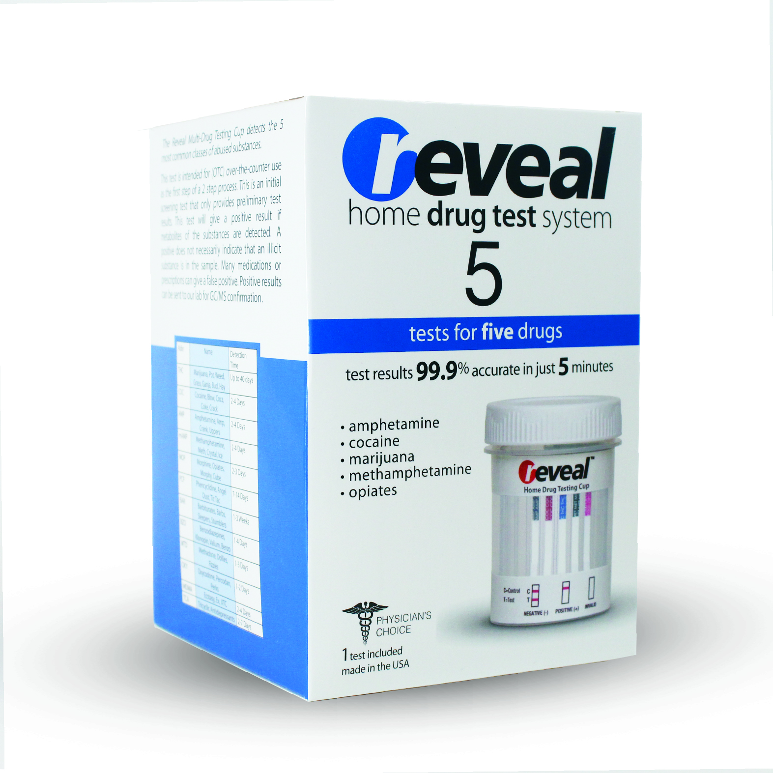 REVEAL - 5 Panel Drug Test Cup (AMP/THC/OPI/COC/MAMP)