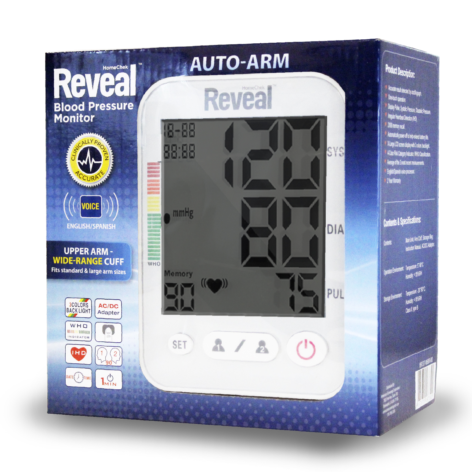 Reveal - Arm Blood Pressure Monitor