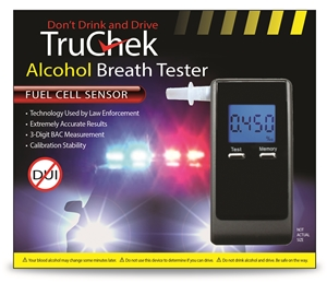 Truchek Alcohol Breath Tester - Fuel Cell Sensor