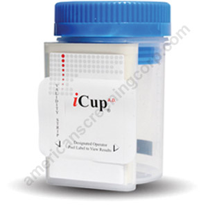 iCup - 6 Panel Drug Test Cup -THC/COC/AMP/mAMP/OPI/BZO/PH/SG/OXI