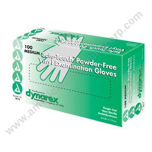 Glove Exam, Vinyl, Powder-Free Medium